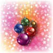Christmas greeting with color decorations - Imagen vectorial