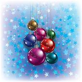 Vánoční pozdrav s dekoracemi — Stock vektor