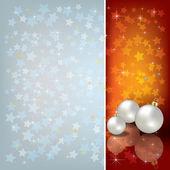 Pozdrav s vánoční ozdoby — Stock vektor