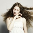 Beautiful woman with magnificent hair — Stock Photo #5962072