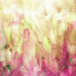 beautiful watercolor background in soft green and magenta — Stock Photo