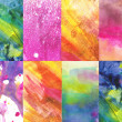 Beautiful watercolor background in various vibrant and soft colors — Stock Photo