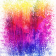 Beautiful grunge splatter background in vibrant yellow, pink and blue - Stock Photo