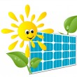 Royalty-Free Stock Vector Image: Solar panel