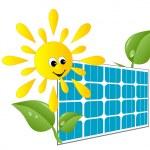 Solar panel — Stock Vector