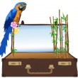 Bamboo in suitcase - Stock Vector