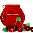 Royalty-Free Stock Vector Image: Cherry jam