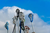 Lacrosse sticks in the Sky — Stock Photo