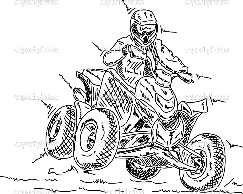 free coloring pages of quad bikes