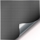 Square cell metal background with curved corner. — Stock Vector