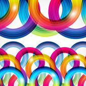 Rainbow Curls. Abstract Illustration in eps10 format. — Vector de stock