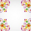 Gift card. Floral design background. — ベクター素材ストック