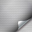 Royalty-Free Stock Vectorielle: Metal backgrounds with curved corner.