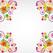 Gift card. Floral design background. — Stock Vector
