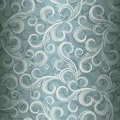 Curl sans soudure fond floral, illustration au format eps10. — Vecteur