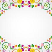 Floral design background. — Stock Vector