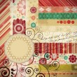 Royalty-Free Stock Imagen vectorial: Scrap background made in the classic patchwork technique