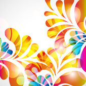 Abstract background with bright teardrop-shaped arches. — Cтоковый вектор