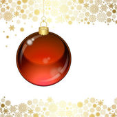 Weihnachten transparente kugel — Stockvektor