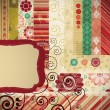 Scrap background made in the classic patchwork technique. — Vector de stock