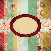 Scrap background made in the classic patchwork technique. — Stock Vector