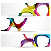 Banner abstracto con formas de marcos vacíos para su diseño web. — Vector de stock