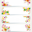 Stock Vector: Floral design banners.