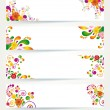 Floral design banners. — Stockvectorbeeld