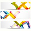 Abstract banner with forms of empty frames for your web design. — Imagen vectorial