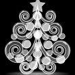 Christmas tree. Vector postcard. — Stock Vector