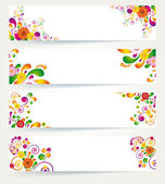 Floral design banners. — Stock Vector