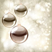 Christmas background with balls and place for your text — Stock Vector