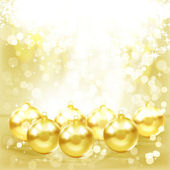 Golden Christmas balls. — Stock Vector