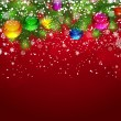 Royalty-Free Stock Imagen vectorial: Christmas background with snow-covered branches.
