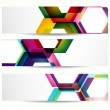 Abstract banner with forms of empty frames for your web design. — Stock Vector #5680077