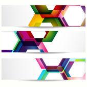 Astratto banner con forme di cornici vuote per il tuo web design. — Vettoriale Stock