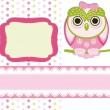 Royalty-Free Stock Vector Image: Baby girl Scrap background.