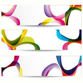 Abstract banner with forms of empty frames for your web design. — Stock Vector