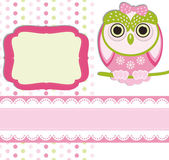 Baby girl Scrap background. — 图库矢量图片