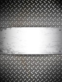 Fluted metal background. Vector Illustration — Stock Vector