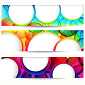 Abstract vector banner with forms of empty frames. — Stock Vector