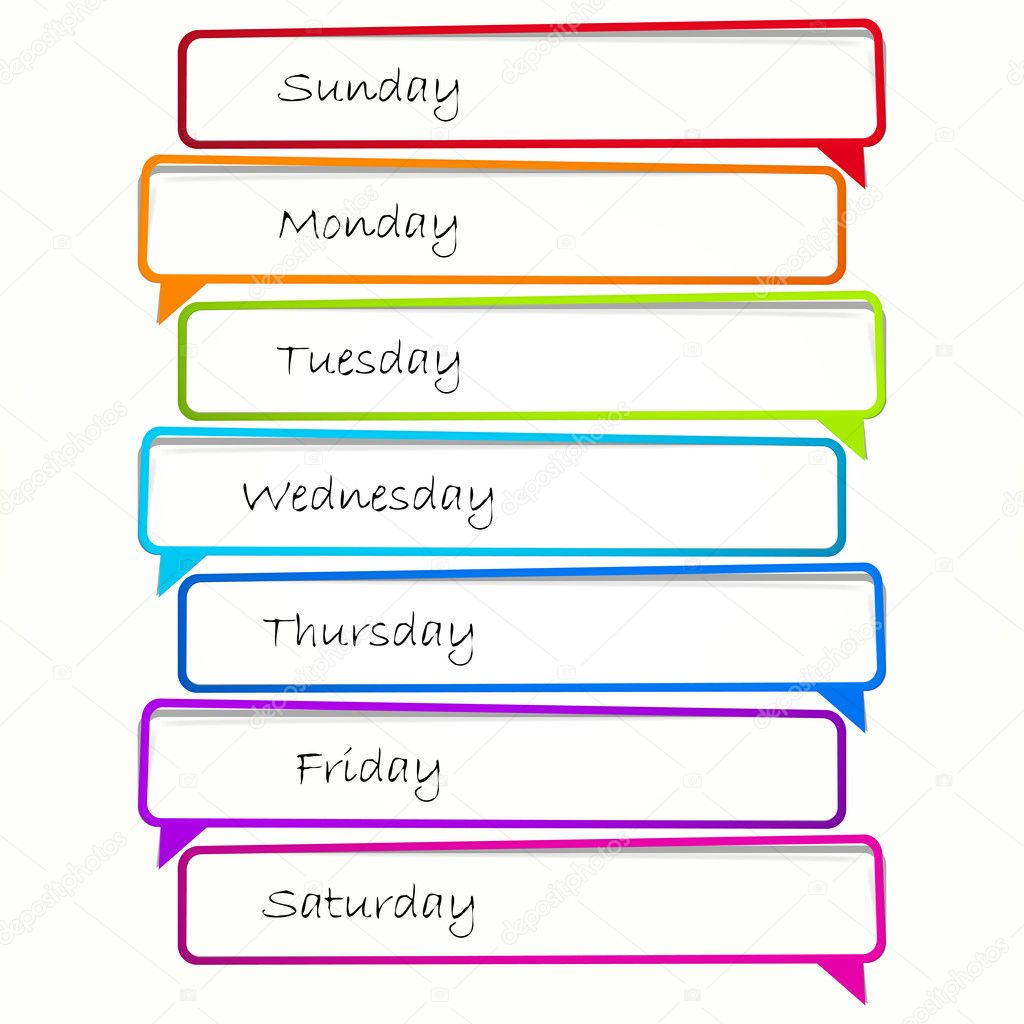 Schedule. Long sticker in the form of an empty frame for your text. — Stock Vector #5867510