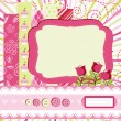 Baby girl Scrap background. — Stockvektor