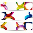 Abstract banner with forms of empty frames for your web design. — Stockvector