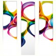Abstract vertical banner with forms of empty frames - Stok Vektr