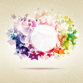Abstract colorful star background. Vector illustration. — Stock Vector
