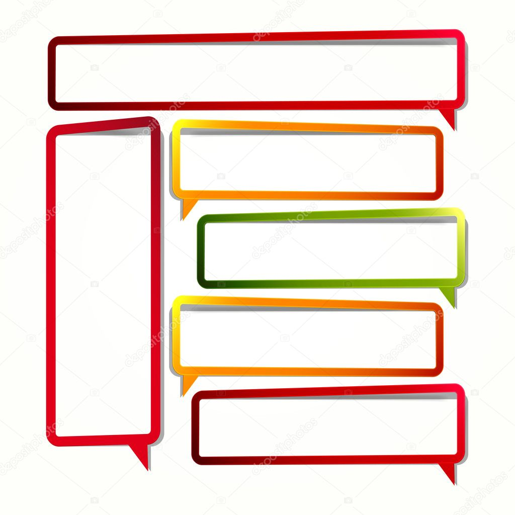 Long vertical oriented sticker in the form of an empty frame for your text. — Image vectorielle #6085626