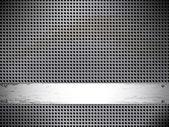 Ronda fondo metálico de la célula. — Vector de stock