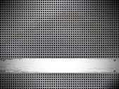 Redonda de metal fundo celular. — Vetor de Stock