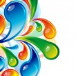 les gouttes d'eau de couleur design. Vector background — Vecteur